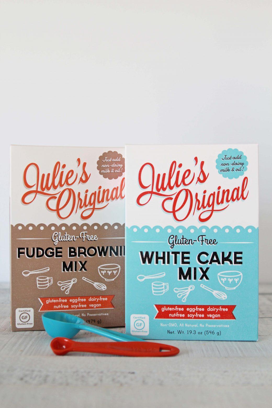 A photo of Julie's Original White Cake and Brownie Mix Gluten-Free + Vegan