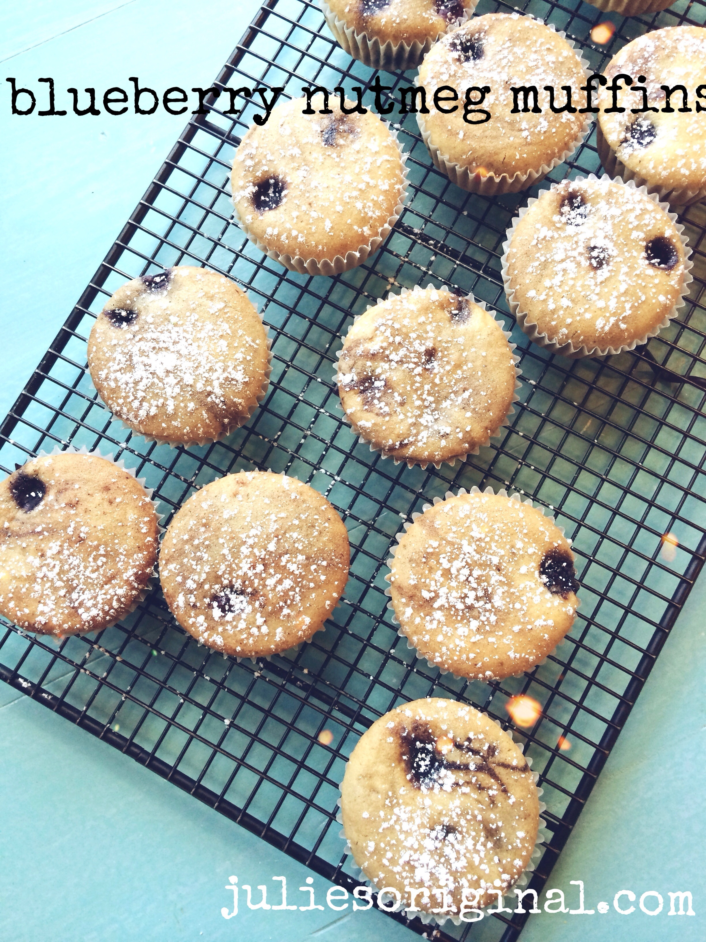 Blueberry Nutmeg Muffins (gluten-free & vegan) - Julie's Kitchenette