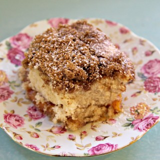 A photo of gluten-free vegan cinnamon streusel coffee cake