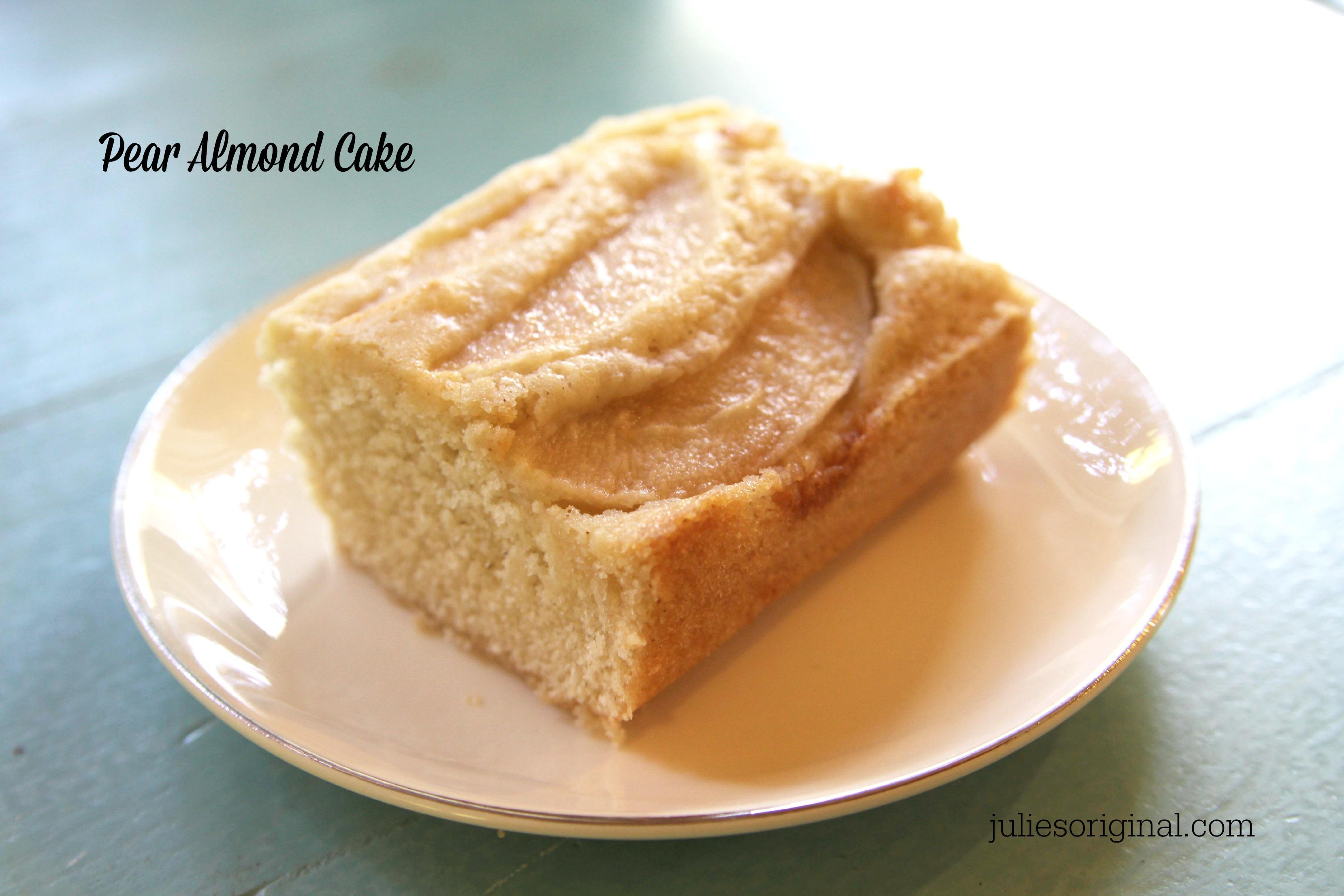 Recipe cake pear almond