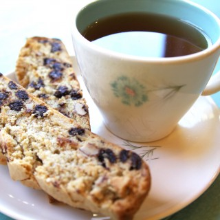 chocolate chip almond biscotti, gluten-free + vegan | Julie's Original