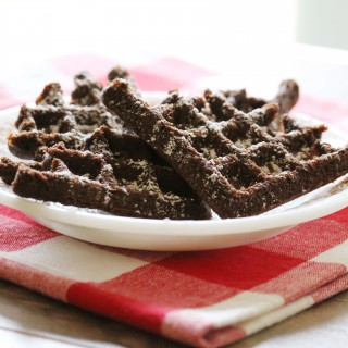 Chocolate Waffles (gluten-free + vegan)!