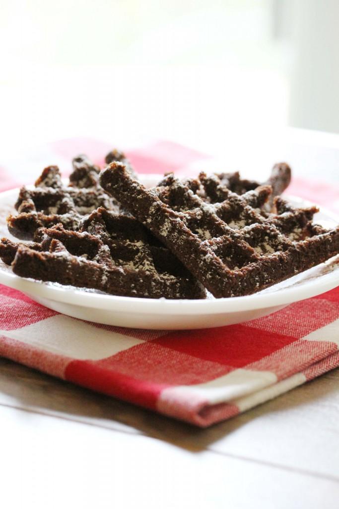 gluten-free, vegan, chocolate waffles