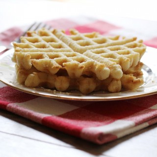Cake Batter Waffles (gluten-free + vegan)!