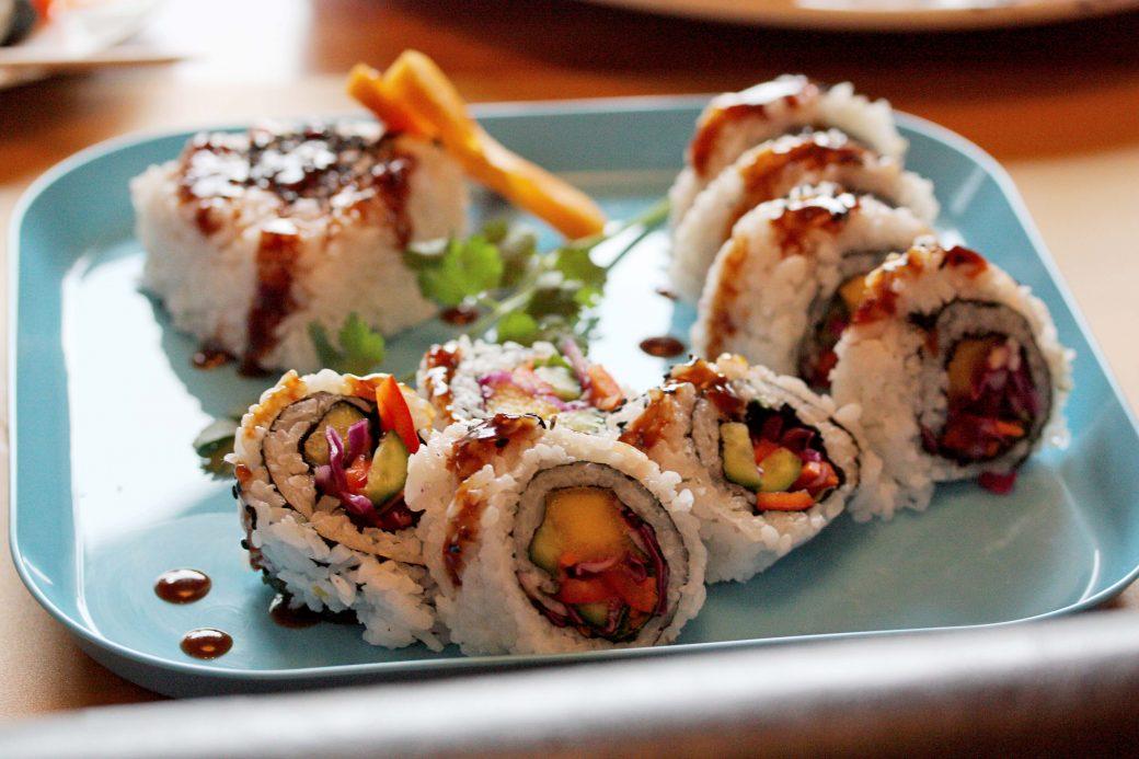 gluten-free, vegan, sushi class