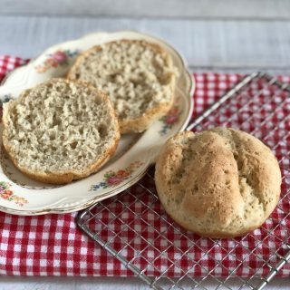 A photo of Whole grain gluten-free + vegan burger buns | Julie's Original